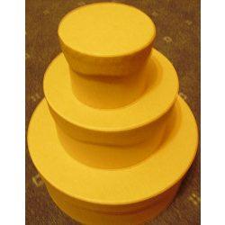 Cakkos tetejű nagy dobozok 3db-os szett, 8x6/13,5x7/20x8 KC72