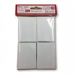 4 kicsi feszített vászon 10x6,5x1,8cm Decorabilia/ KTL41M