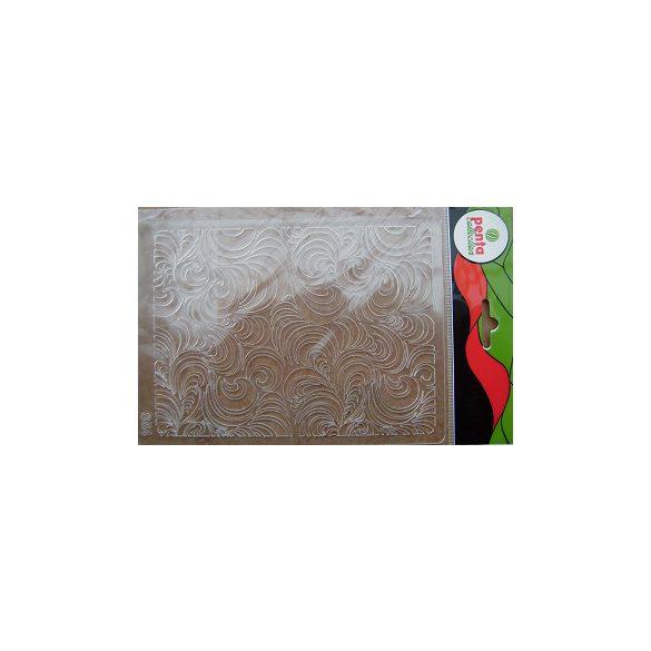 Stencil S54 méret 14,5x19,7 cm – halmozott íves virágminta KSG350