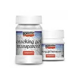 Transzparens repedő gél szett, Transparent Cracking Gel set 50+100 ml