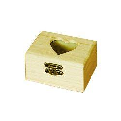 Minidoboz, szívbetéttel 8 x 4,5 x 6 cm