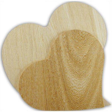 Falap szívforma, nagy 29x27x0,5cm