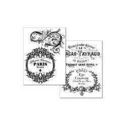 A4 Transzfer papír - 2 ív A4 Vintage DFTR041 Stamperia