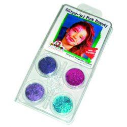 Arcfesték-készlet, glitteres, Pink Beauty Eulenspigel 4x3,5ml