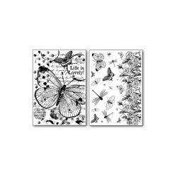 Transzfer papír 2 ív A4 - Lepke DFTR064 Stamperia