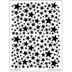Fém stencil Csillagos háttér 14,5x19,5cm