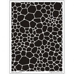 Fém stencil Sárkánybőr háttér - Terméskő háttér 14,5x19,5cm