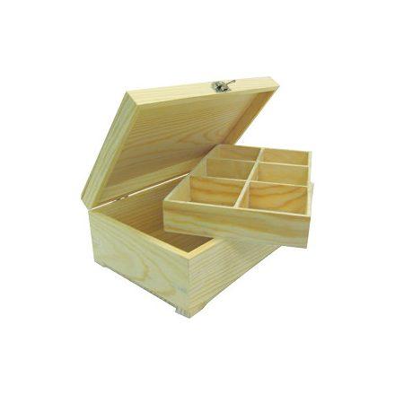 Teafiltertartó kivehető 6rekeszes 24x15x8,5cm