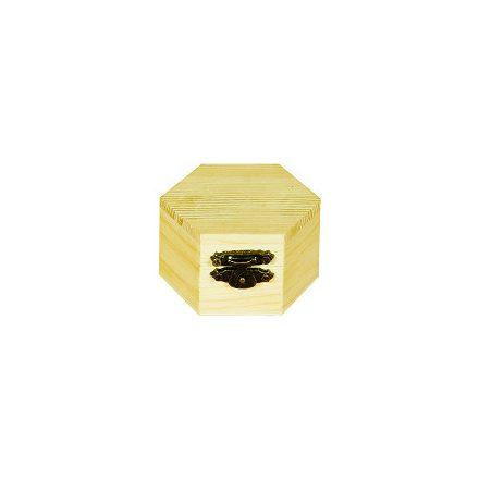 Mini fadoboz hatszög 6x4cm