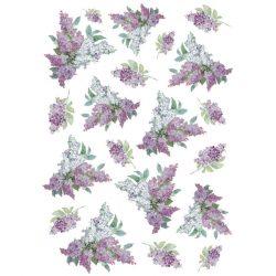 DFSA4106 rizspapír Orgona Texture with lilac Stamperia