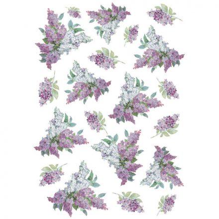 DFSA4106 rizspapír Orgona A4 Texture with lilac Stamperia