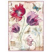 DFSA4276 rizspapír A4 Vintage tulipánok