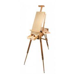 """Daler-Rowney Cornwall dobozos """"francia"""" hordozható összecsukható tábori festőállvány tábori székkel 770mm vászonméretig 4,4kg"""