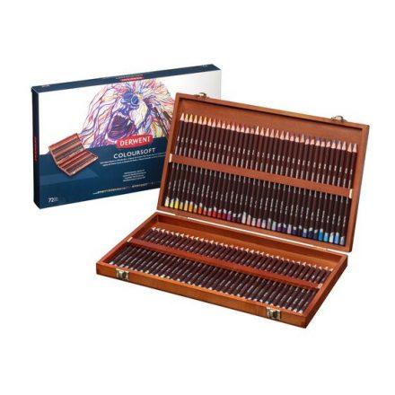 Derwent COLOURSOFT 72db-os színes puha ceruza készlet fadobozban