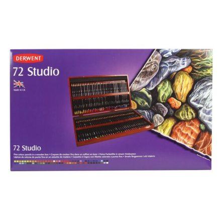 Derwent STUDIO 72db-os színes stúdió ceruza készlet fadobozban