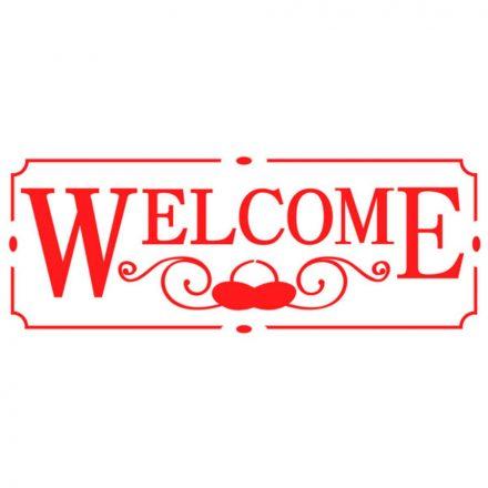 Stencil KSB163 Welcome B méret 38x15cm