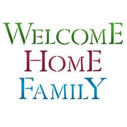 Stencil KSG338 Welcome Home Family G méret 21x29,7cm