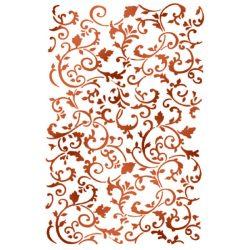 Stencil KSG362 Indák, Íves textúra G méret 21x29,7cm