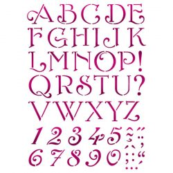 Stencil KSG379 ABC íves G méret 21x29,7cm