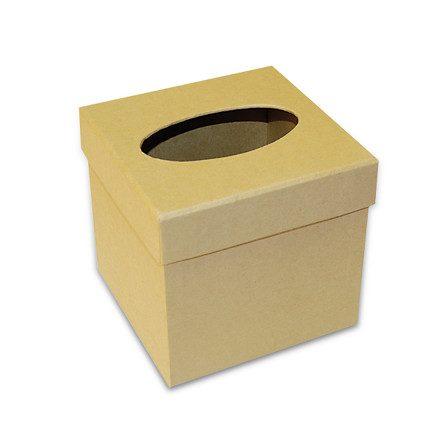 Karton zsebkendőtartó 12,7x12,7x12 cm KC58