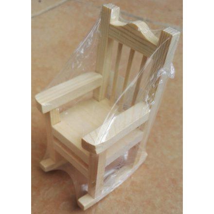 Mini hintaszék fából 6x6x10cm