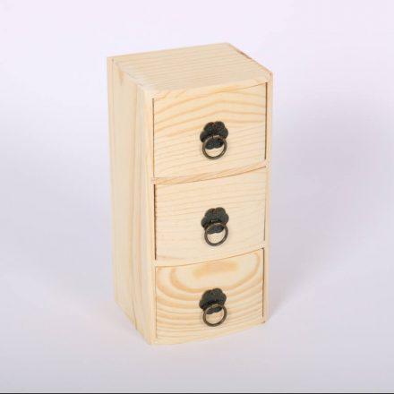 Minikomód 3 fiókos 9x8x18,5cm