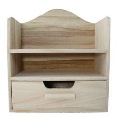 Miniszekrény polccal fából 22x12x25cm