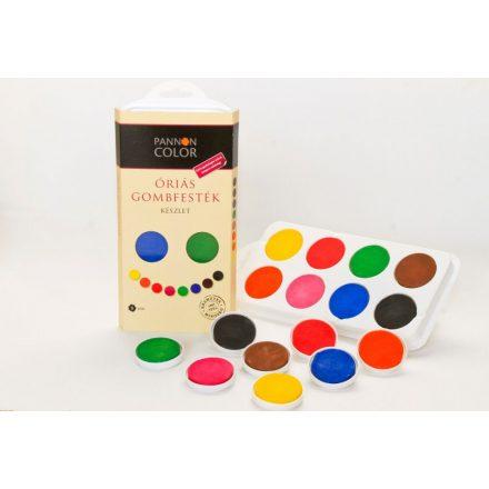Pannoncolor óriás gombfesték, vízfesték készlet 8db-os, alap vagy kiegészítő színek, Ft-tól