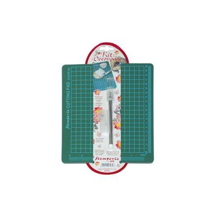 Dekupázs vágókészlet KRT01 Stamperia - decoupage vágóalátét 23x19cm, vágótoll kupakkal