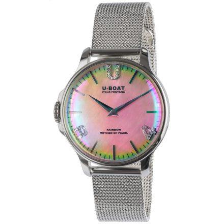 U-Boat női karóra Rainbow 38 Pink SS Bracelet 8472/MT szivárványos rózsaszín