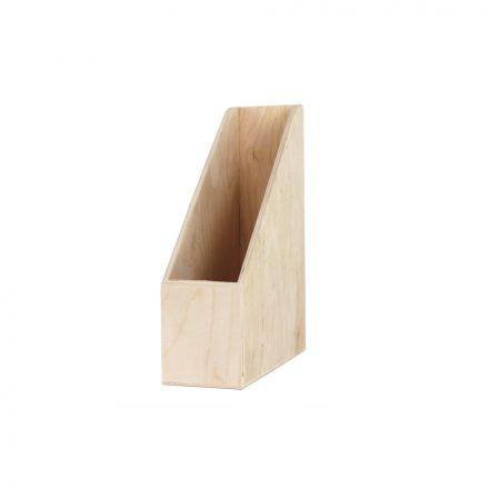 Fa papírzsebkendő-tartó feles